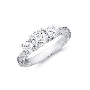 2.50 ct Three stone round cut diamonds anniversary